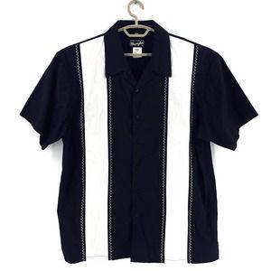 Wrangler Color Block Rockabilly Bowling Shirt XL